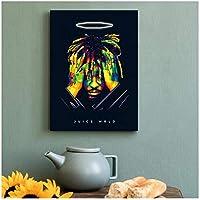 Qqwer 歌手ジュースWrldラッパーアルバムカバーポスターヒップホップアートプリントキャンバスアートワーク壁アートリビングルームの寝室の装飾画像-50X70Cmx1Pcs-フレームなし
