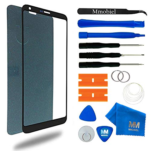 MMOBIEL Front Glass Replacement Compatible with LG G6 Series 5.7 Inch (Black) Display Touchscreen incl Tool Kit