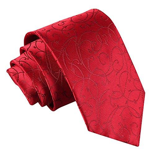 DQT Nouveau Cravate Bourgogne volutes pour hommes