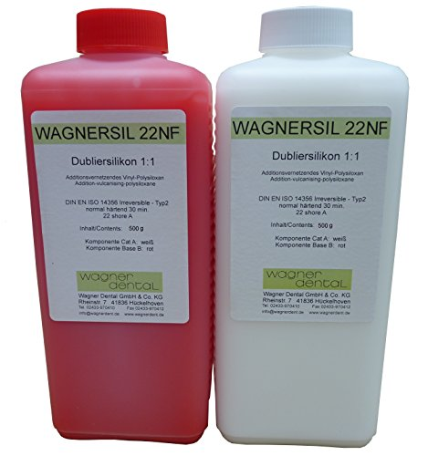 WAGNERSIL 22 NF de alta calidad de caucho de silicona duplicación (suave) 1 kg