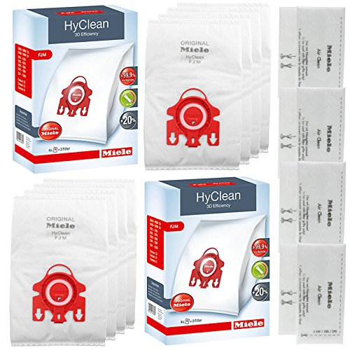 Genuine MIELE FJM HyClean Vacuum Cleaner DUST BAG (x8)