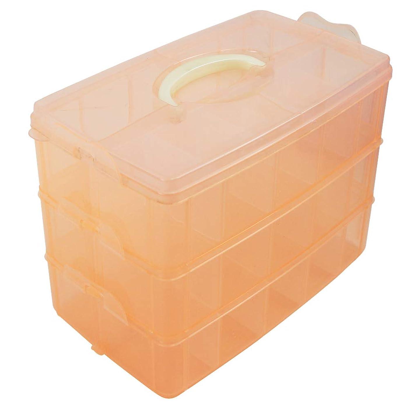 チャーム注目すべき尾hiruiseki 大きくて便利 LOLシリーズ サプライズ 人形 収納ボックス 持ち手つき クリアケース (オレンジ)