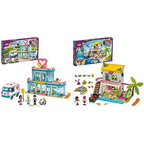 LEGO Friends L'Ospedale Di Heartlake City, Set Con 3 Mini Bamboline E Ambulanza, Giocattolo Per Bambine E Bambini Di 6+ Anni & Friends Casa Sulla Spiaggia Con Pedalò E Mini Bamboline Di Andrea E Mia