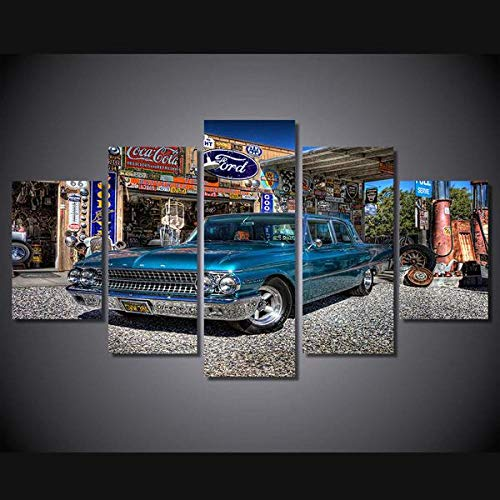 GSDFSD 5 Piezas Galaxie Azul 1961 De Arte De Pared Impresión En Lienzo Animal Arte Moderno para Decoración del Hogar