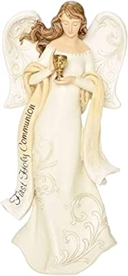 First Communion Guardian Angel Figurine Keepsake Girls Boys, 7.38 Inch