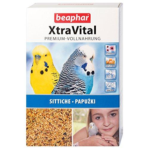 beaphar XtraVital Sittich Futter | Leckeres Futter für Sittiche | Mit Früchten & Eifutter | Mit Echinacea & Vitamin A | 24 unterschiedliche Saatsorten | 1 kg