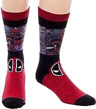 Marvel Deadpool Sublimated Panel Marled Crew Socks
