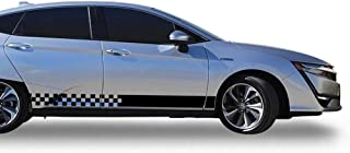 Bubbles Designs Decal Sticker Vinyl Side Checkered Flag Compatible with Honda Clarity 2016-2018