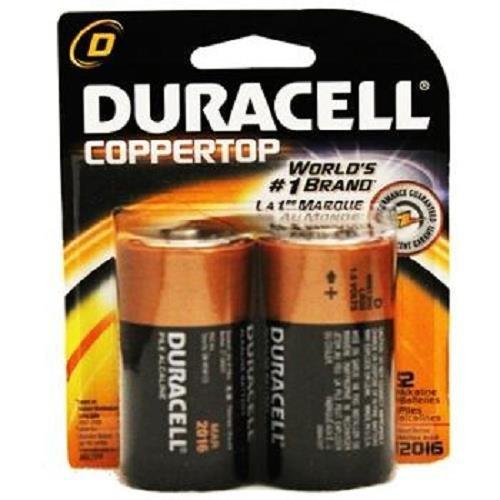 Duracell D 2pk 1.5V Alkaline Battery Repack LR20 E95 AM2 MN1300, Model: , Gadget & Electronics Store