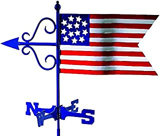 Good Directions Americana Flag Weathervane with Roof Mount