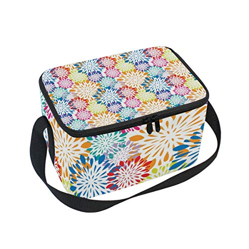 Coloridas cajas de almuerzo con diseño de mandala para niños