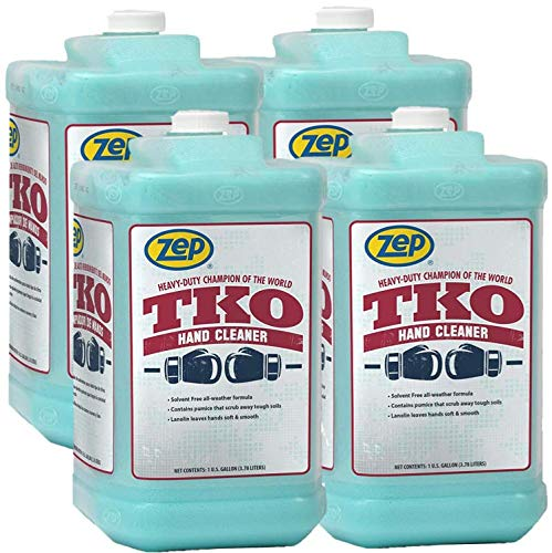 Zep Heavy-Duty TKO Hand Cleaner 128 oz. R54824 (Case of 4) Pump included - The GO-TO cleaner for...