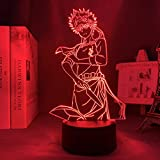FDJHG - Luz nocturna 3D con diseño de anime, para dormitorio o decoración de Navidad, manga para niños, regalo de cumpleaños, anime, lámpara 3D