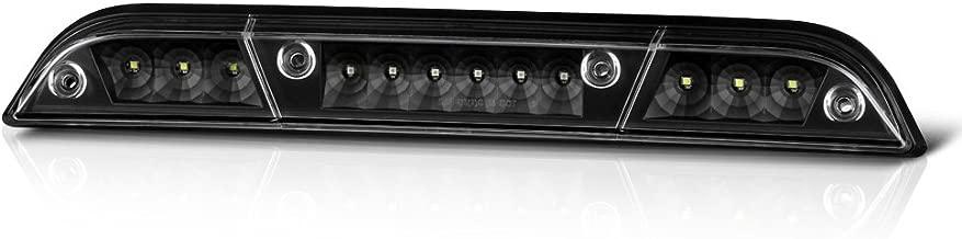 VIPMOTOZ Full LED Third Brake Cargo Light Assembly For 2015-2018 Ford F-150 & 2017-2018 F-250 F-350 F-450 Superduty Pickup Truck, Matte Black Housing, Rear High Mount Stop Lamp