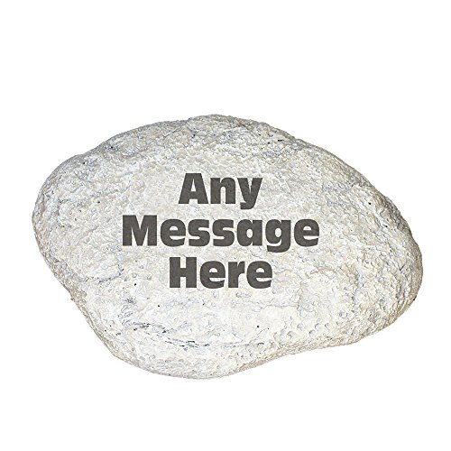 GiftsForYouNow Any Message Personalized Garden Stone, 11 W x 8 H, 3 Lines of Text, Outdoor Decor, Beautiful Yard Decoration, Summer Gift, Engraved, Personalized Memorial Stone
