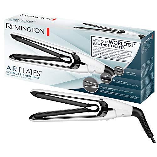 Remington S2412 Piastra per Capelli, Sistema a Piastre Sospese, Rivestimento in Ceramica, Piccola e Maneggevole, Riscaldamento Rapido in 30 sec., Indicatore LED, Voltaggio Universale, Compatta