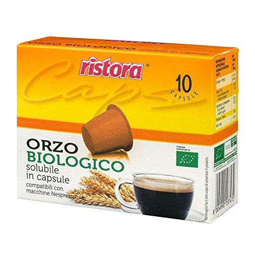 100 Cialde Capsule Compatibili Nespresso Ristora Orzo Biologico Originali