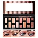 Onlyoily Paleta De Sombras De Ojos Desnudo Profesionales - Paleta Maquillaje - Altamente Pigmentados 16 Colores Ahumado Brillantes y Mate Impermeable Duradero