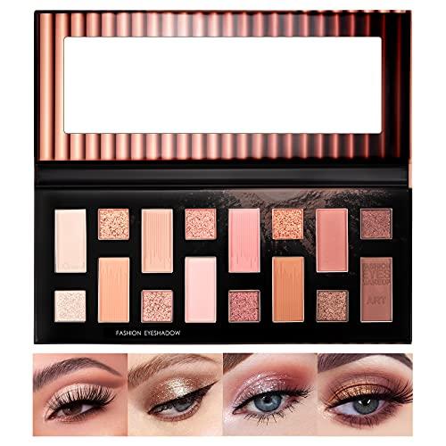 Palette Ombretti Trucchi Make Up Occhi - ONLYOILY 16 Colori Effetto Opaco, Metallico - Altamente Pigmentata, Facile da Sfumare,a Lunga Durata Palette Ombretti Professionali Makeup palette