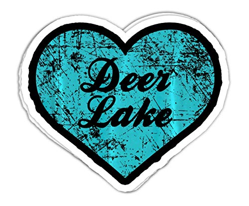 DKISEE Vinyl 6 Inch Decal Stickers I Love Deer Lake, Washington Camping Gift Decal Sticker Decoration for Cars,Windows, Mirrors, Laptops, Mobile Devices (Pack of 3)