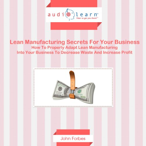 Lean Manufacturing Secrets for Your Business audiobook cover art