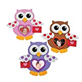 Valentine Owl Foam Picture Frame - Makes 12 - Valentine's Day Crafts for Kids and Fun Home Activities
