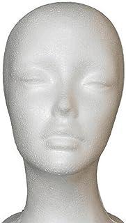 Kvinnligt huvud Modell Kvinna frigolit Foam 3D huvudet Manikin skyltdocka peruk hår Display srand kläder skyltdockor