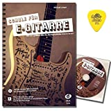 Escuela para guitarra eléctrica de Michael Langer con CD, descarga gratuita y púa original Dunlop – Aprende con los mayores éxitos de la historia de la guitarra rock.