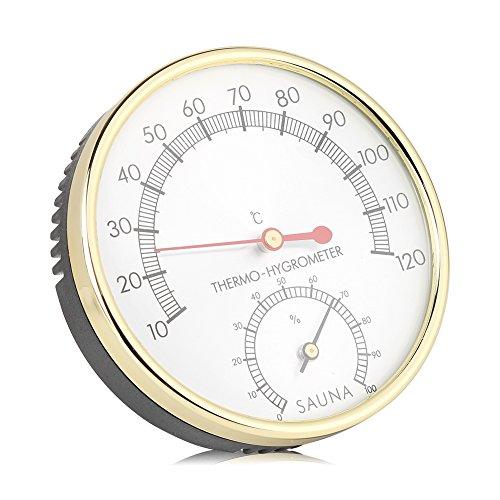 Garosa Digital Hygrometer Innenthermometer Feuchtigkeit Monitor Messgerät für Sauna Haus Büro Gewächshaus