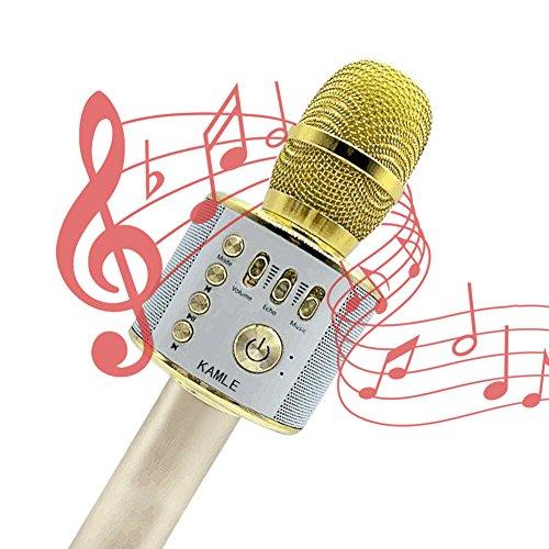 micrófono inalámbrico kamle portátil...