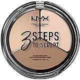NYX PROFESSIONAL MAKEUP 3 Steps to Sculpt Face Scultping Palette, Fair