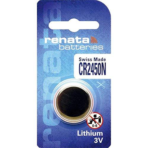 1 Renata CR2450N - Pila de botón (litio, 3 V)