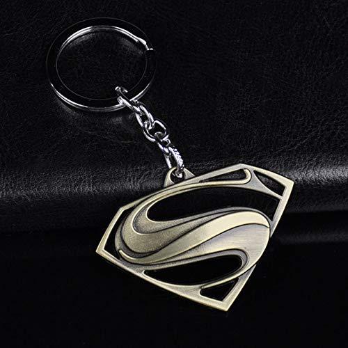 Wonderful Day Superman S Logo Charm Llavero Metal Avengers SuperhéroeLlavero Llavero Llavero para Coche Joyas Chaveiro Trinket Regalo, D21 Cobre