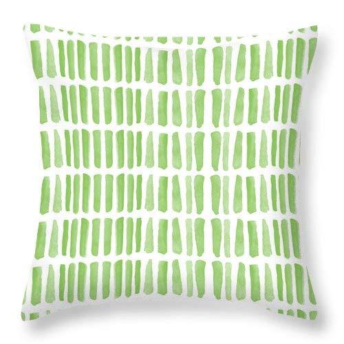 Lplpol Fresh Grass- Funda de cojín cuadrada de lino y algodón con patrón abstracto para pintar y pintar, 40,6 x 40,6 cm