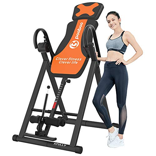 Great Deal! Afully Inversion Table for Back Pain Relief Heavy Duty Foldable Back Stretcher Machine f...