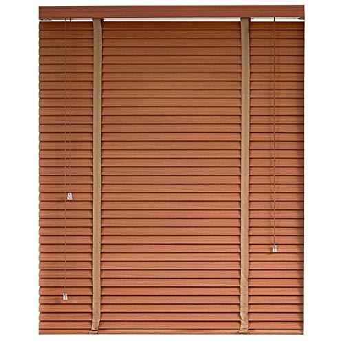 ZEMIN persienner träpersienner, skuggning, miljöskydd och hållbar, sovrum, arbetsrum, vardagsrum och kontorsrullgardiner (färg: Brun, storlek: 100 x 225 cm)
