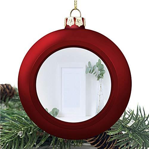 White Frame Mockup/Christmas Ball Ornaments 2020 Christmas Pendant Personalized Creative Christmas Decorative Hanging Ornaments Christmas Tree Ornament №SW198282