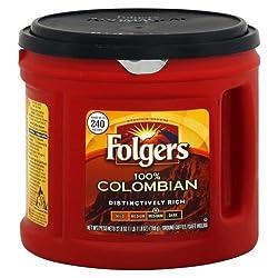 Folgers Coffee Ground 100% Colombian Medium Dark 278 OZ (Pack of 12)