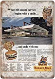 Cimily Burger King Home of The Wopper Vintage Blechschild