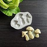 ZPZZPY Herramienta de decoración de Pasteles de Fondant de Molde de Silicona de Setas