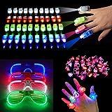 Neusky 94 LED Spielwaren Party Zubehör Mitgebsel für Kinder Kindergeburtstag (Weihnachten 94Set)