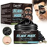 Blackhead Remover Masque, Peel off Masque, Black Head Masque Pour Hommes,Nettoyant en Profondeur Rétrécir Pores,Anti-Point Noir Masque,Supprime Points Noirs/Acné-200g