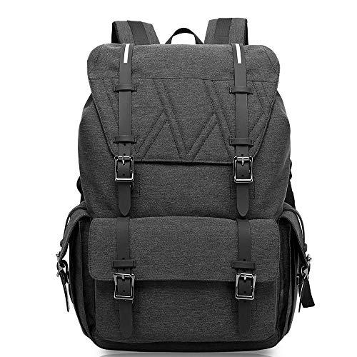 Mochila impermeable de ocio, bolsa de ocio ligero al aire libre Impermeable Portátil bolsa antirrobo bolso de viaje grande capacidad de hombro mochila mochila mochila escolar ( Color : Gray-black )