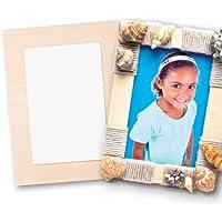 Marcos de Fotos de Madera para Decorar y Personalizar. Manualidades Creativas para Niños (Pack de 4)