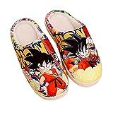 Zapatillas Antideslizantes de Anime de Japón otoño e Invierno Zapatos de casa de Dibujos Animados Suaves y cálidos Zapatillas de Felpa Interior para Hombres y Mujeres,Dragon Ball Z, 44-45 Yardas