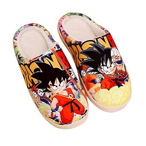 Japan Anime weiche warme Hausschuhe Herbst und Winter Cartoon Hause Schuhe Paar rutschfeste Plüsch Hausschuhe Indoor Schuhe Männer und Frauen,Dragon Ball Z,42-43 Yards