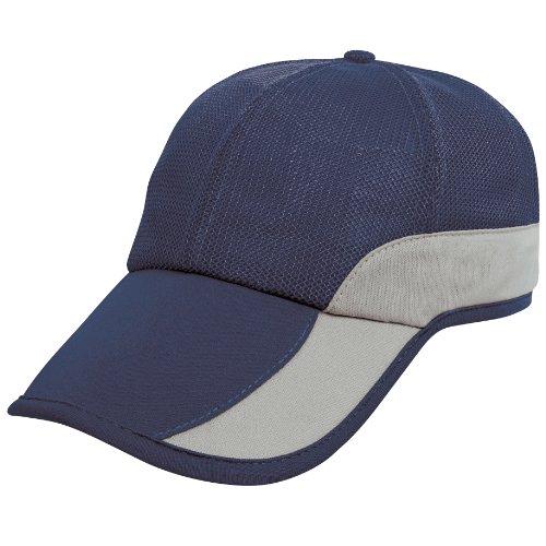 Result Addi - Casquette maillée - Adulte Unisexe (Taille Unique) (Bleu Marine/Argent)