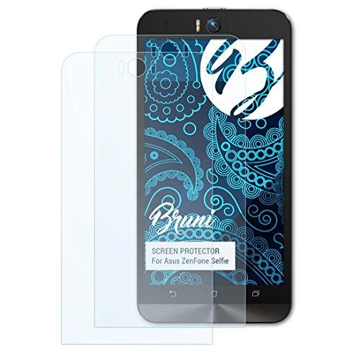 Bruni Schutzfolie kompatibel mit Asus ZenFone Selfie Folie, glasklare Bildschirmschutzfolie (2X)