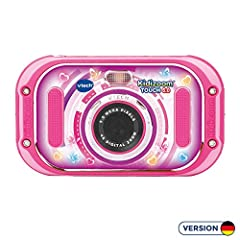 VTech 80-163554 Kidizoom Touch 5.0 różowy aparat cyfrowy dla dzieci aparat cyfrowy, wielokolorowy