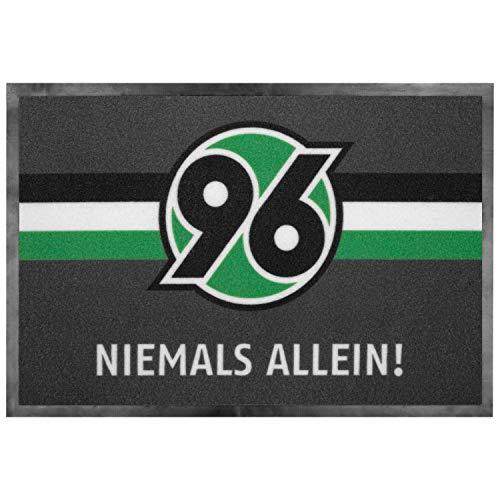 """H96 Hannover 96 Fussmatte """"Niemals allein"""